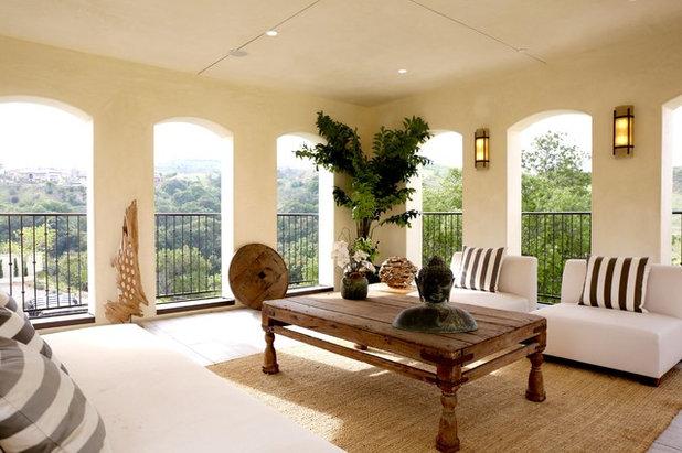 Mediterranean Balcony by Breeze Giannasio Interiors