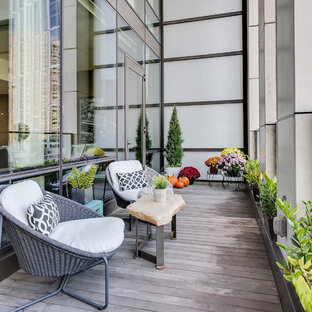 На фото: балкон и лоджия в современном стиле в квартире