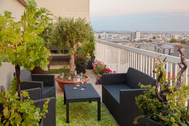 Contemporáneo Terraza y balcón by Agence Glenn Medioni