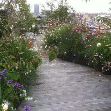 jardins, terrasses à Paris, en France, Suisse