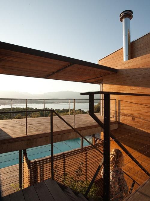 Photos et id es d co de terrasses budget mod r avec une extension de toiture for Budget toiture