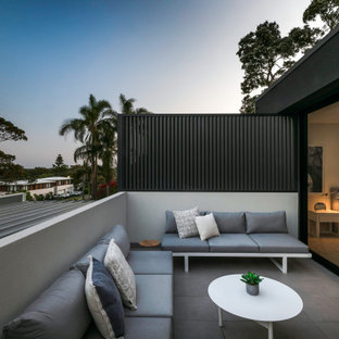 This is an example of a contemporary balcony in Sydney with no cover.