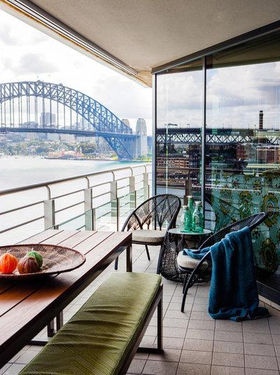 Contemporain Balcon by Marylou Sobel Interior Design