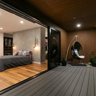 Contemporary balcony in Melbourne.