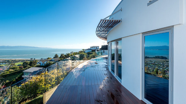 Contemporary Balcony by J Lewis Building Ltd