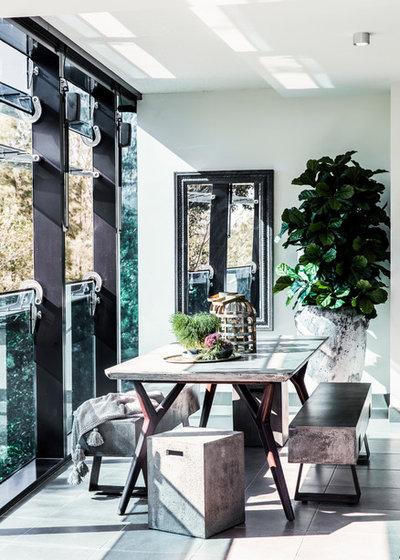 Contemporary Balcony by Marylou Sobel Interior Design