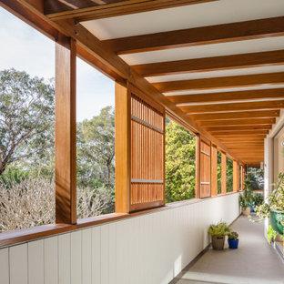 Contemporary balcony in Sydney.