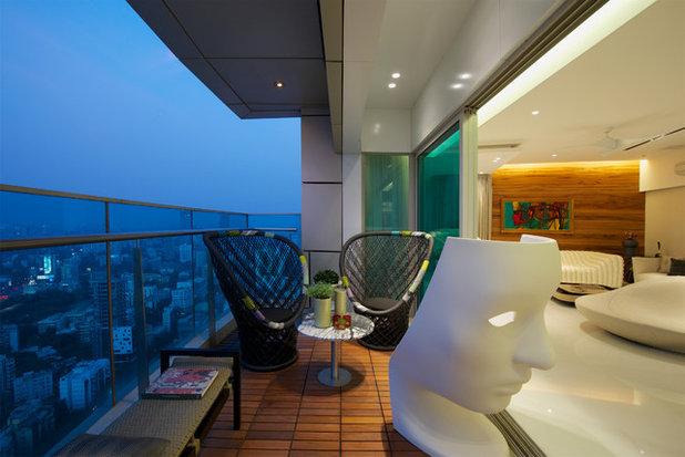 Contemporary Balcony by ZZ Architects