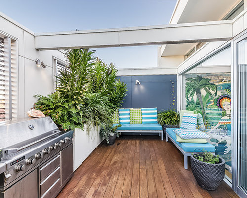 Design Ideas For A Beach Style Balcony In Sydney With A Container Garden  And No Cover