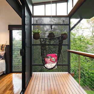 This is an example of a contemporary balcony in Brisbane.