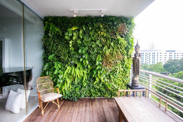 Asian Balcony by Vertical Green
