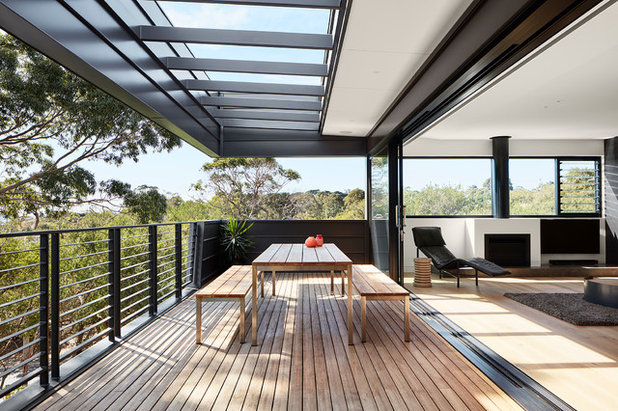 Contemporary Balcony by Bryant Alsop Architects
