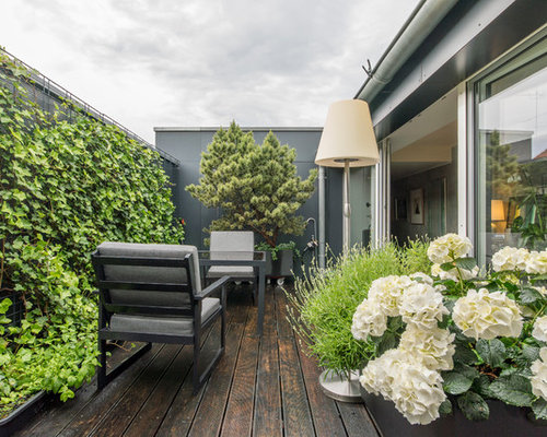 kleine moderne terrasse ideen design bilder houzz. Black Bedroom Furniture Sets. Home Design Ideas