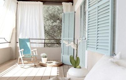 Idea to steal: Vorhänge als Sichtschutz für Balkon & Terrasse
