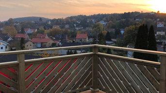 Balkong och trappräcke