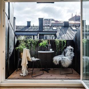 Unbedeckte, Mittelgroße Nordische Terrasse in Stockholm