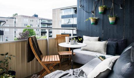 Svårt att inreda en långsmal balkong? Här är lösningarna