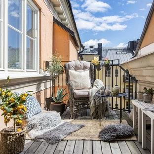 Idéer för nordiska balkonger, med räcke i metall