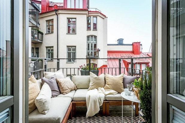 Skandinavisch Balkon by Svensk Fastighetsförmedling
