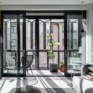 На фото: с высоким бюджетом балконы и лоджии среднего размера в стиле лофт