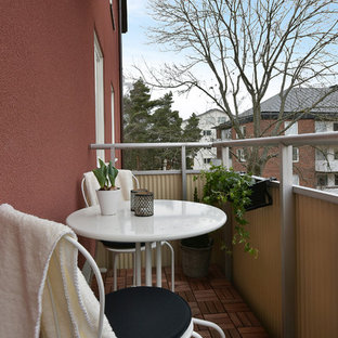This is an example of a scandinavian balcony in Stockholm.