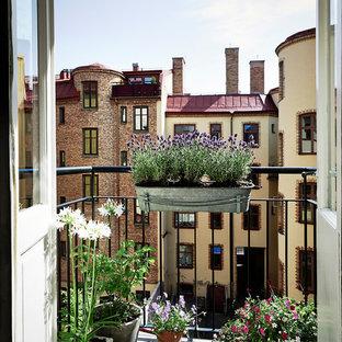 Inspiration för en skandinavisk balkong