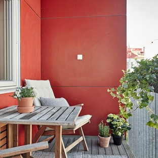 Design ideas for a scandi terrace and balcony in Gothenburg.