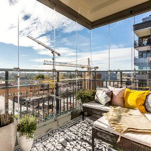 Bild på en mellanstor funkis balkong