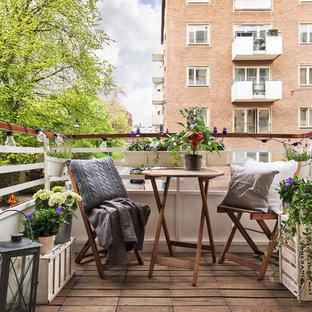 Inspiration för en mellanstor minimalistisk balkong