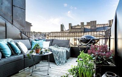 10 luftige Tipps, einen schmalen Balkon einzurichten