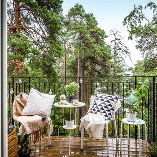 Idéer för minimalistiska balkonger, med räcke i metall