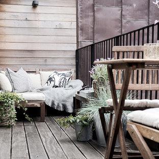 Inspiration för minimalistiska balkonger, med räcke i metall