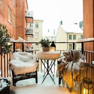 Exempel på en mellanstor nordisk balkong