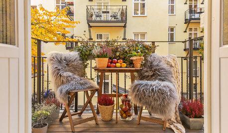 Frischluft gefällig? So nutzen Sie Ihren Balkon bei kaltem Wetter