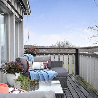 Idéer för mellanstora vintage balkonger