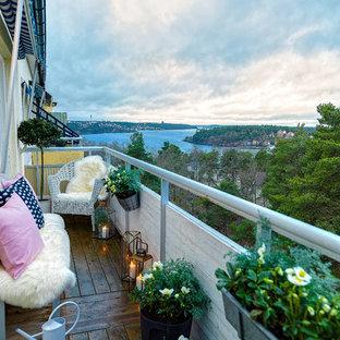 Bild på en skandinavisk balkong