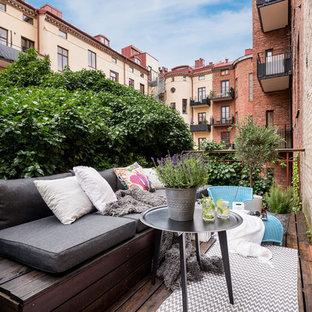Idee per terrazze e balconi nordici di medie dimensioni con nessuna copertura