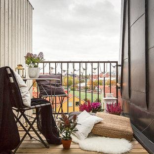Idéer för små skandinaviska balkonger