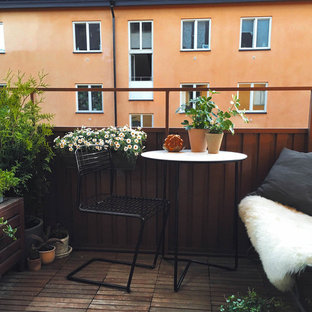 Design ideas for a scandinavian balcony in Stockholm.