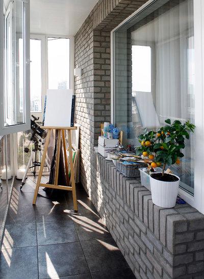 Современный Балкон и лоджия by Архитектурное бюро DAOFORM