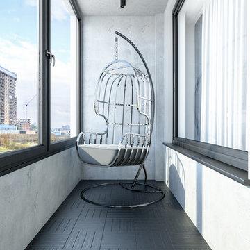 Квартира 57 кв.м. в Тетрис-холл г.Киев в индустриальном стиле