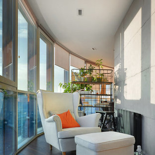 Выдающиеся фото от архитекторов и дизайнеров интерьера: балкон и лоджия в современном стиле