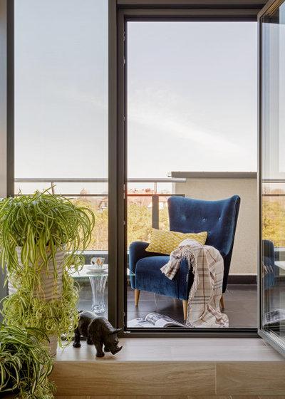 Современный Балкон и лоджия by Студия дизайна интерьера Асии Орловой