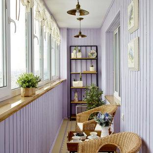 Свежая идея для дизайна: балкон и лоджия в стиле кантри - отличное фото интерьера