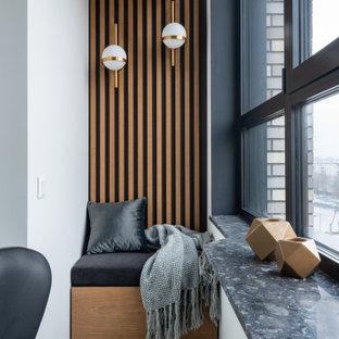 Idée de décoration pour un balcon design.