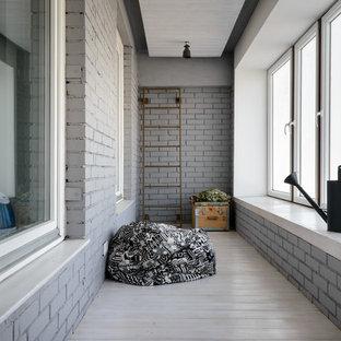 Выдающиеся фото от архитекторов и дизайнеров интерьера: большая терраса в стиле лофт