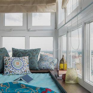 Пример оригинального дизайна: балкон и лоджия в морском стиле