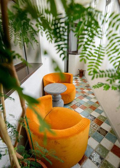 Ретро Балкон и лоджия by IZOOOM, design interior studio