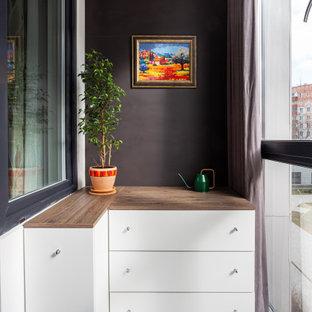 Пример оригинального дизайна: балкон и лоджия в современном стиле