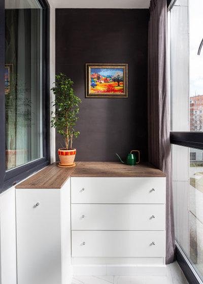 Современный Балкон и лоджия by Марина Светлова